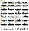 City skyline South America - stock vector