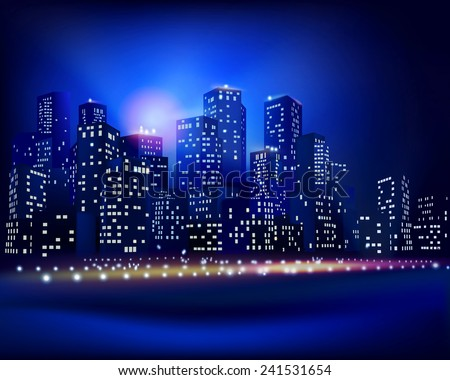City skyline. Vector illustration. - stock vector