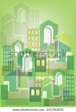 City Skylines background. Vector illustration - stock vector