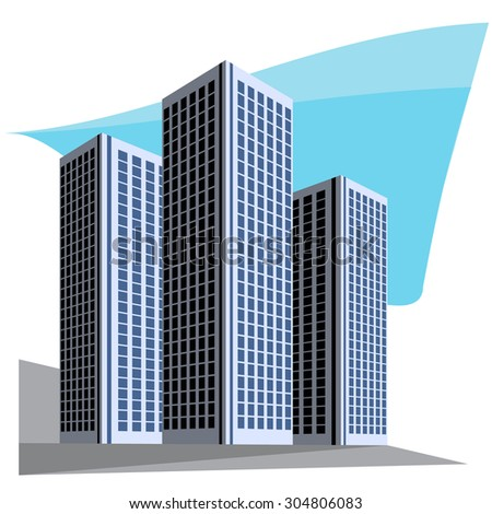City skyscrapers vector illustration