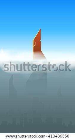 city smoke 03 - stock vector