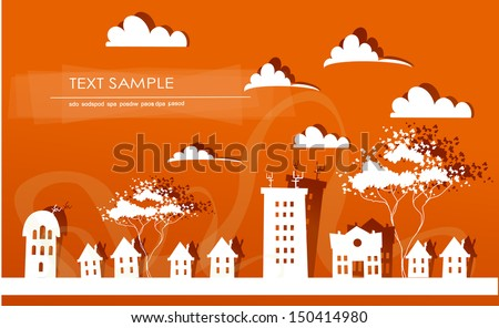 city street background - stock vector