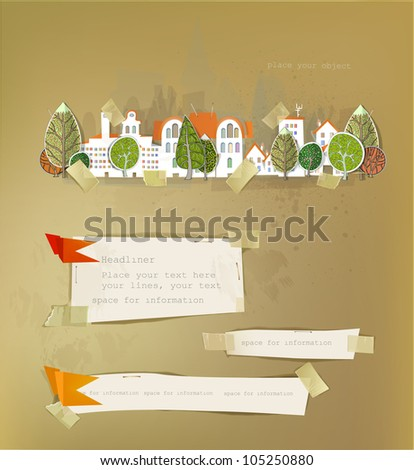 city street illustration HAPPY WORLD COLLECTION - stock vector