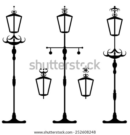 City street lantern - stock vector