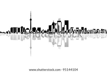 City Toronto panorama, vector - stock vector