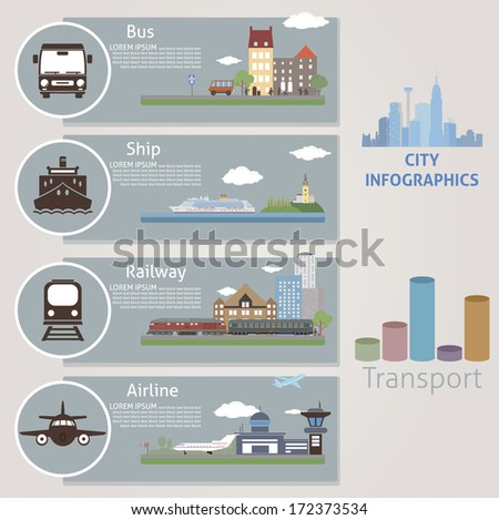 City. Transport. Vector for your design  - stock vector