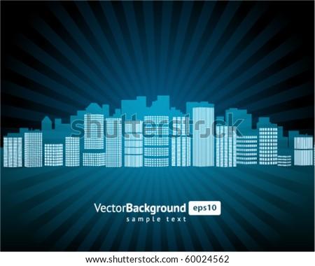 City vector background - stock vector