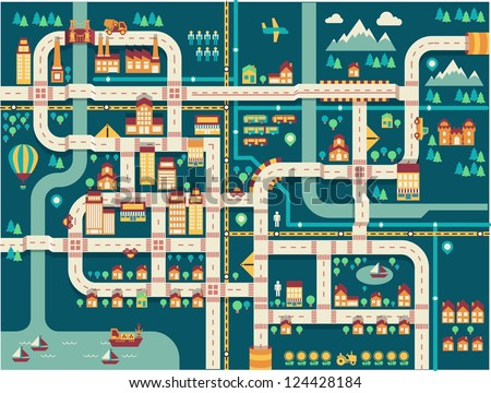 city vector background,info graphic, - stock vector