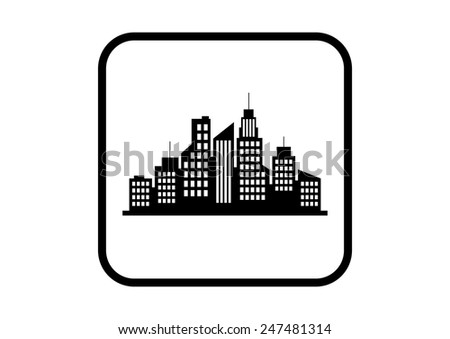 City vector icon on white background