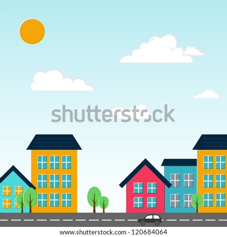 City vector illustration. - stock vector