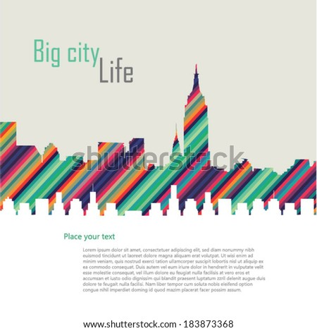 City vector illustration - stock vector