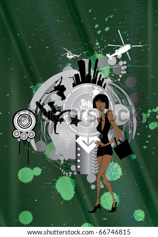 City vector illustration - stock vector