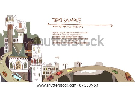 City view background - stock vector
