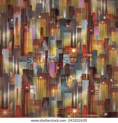 Cityscape background - stock vector