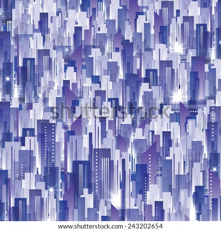 Cityscape background - stock vector