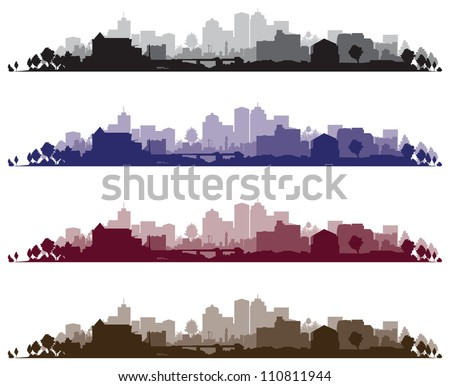 cityscape backgrounds - stock vector