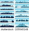 cityscape collection - stock vector