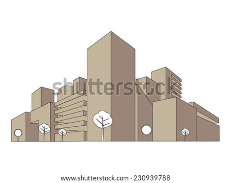 Cityscape illustration - stock vector