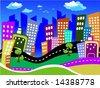 Cityscape - Vector - stock vector