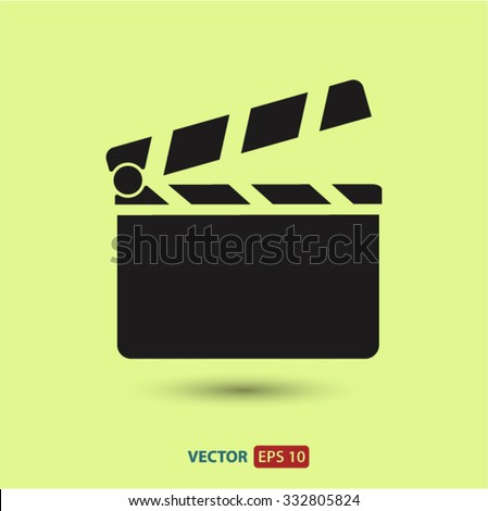 Clapper board  icon. One of set web icons - stock vector