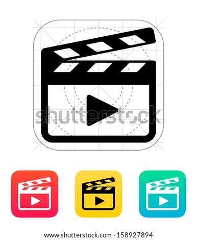 Clapper board icon. Vector illustration. - stock vector