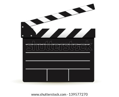 clapper board on white background. Vector - stock vector