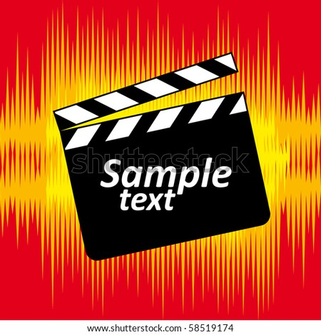 clapper template - stock vector