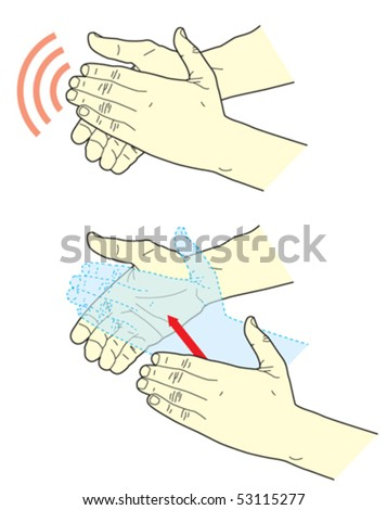 Clapping - stock vector