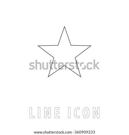 Clasic star outline simple vector icon stock vector 360909233 clasic star outline simple vector icon on white background line pictogram with text sciox Images