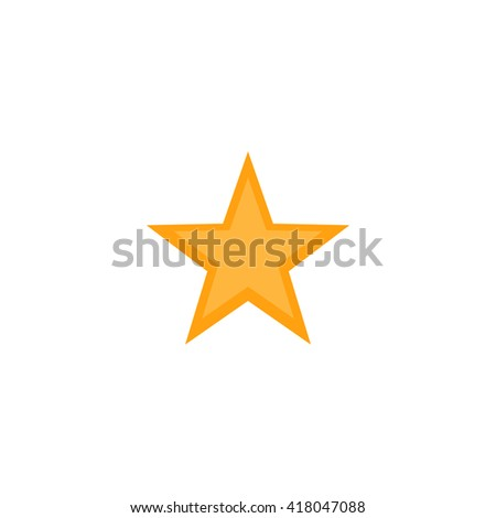 Clasic star Simple flat vector icon - stock vector