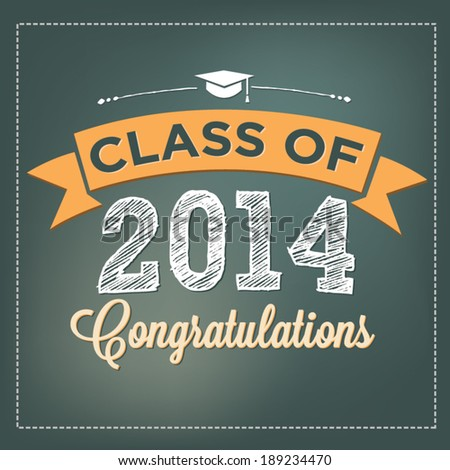 Class of 2014 - Congratulations - Graduation Vector - stock vector
