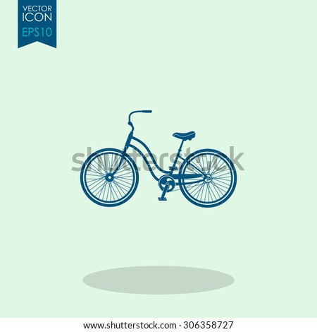 Classic bicycle vector icon.