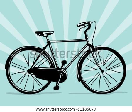 classic bike. - stock vector