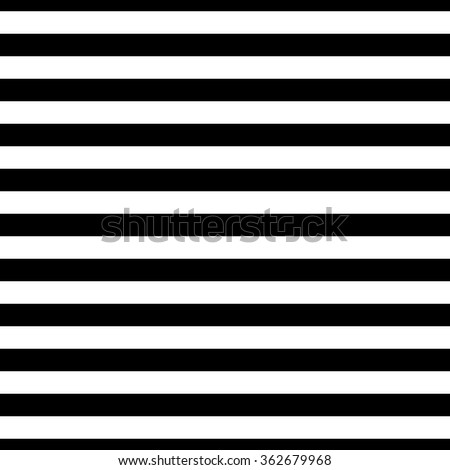 Classic black and white stripes pattern - stock vector