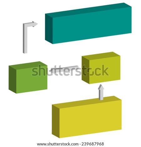 Classic block scheme flow chart diagram , vector illustration - stock vector