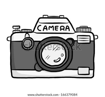 Camera Cartoon Logo Classic Camera Cartoon