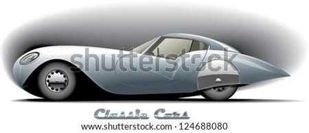 classic car design - stock vector