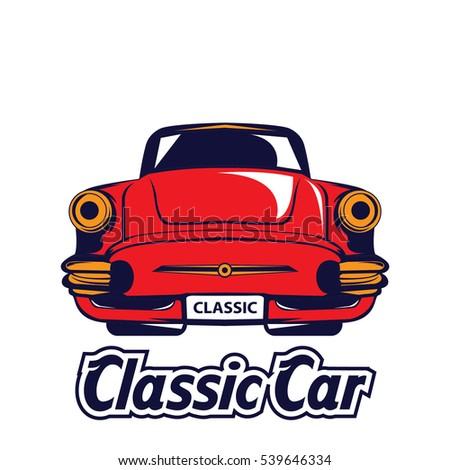 Old classic american car havana cuba stock vector for American classic logo