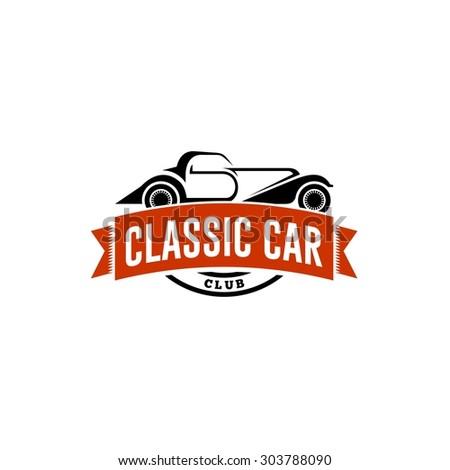 Classic Car Logo Template - stock vector
