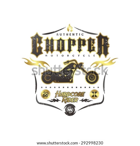 classic chopper motorcycle event - stock vector