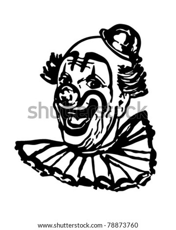 Classic Clown - Retro Clipart Illustration - stock vector