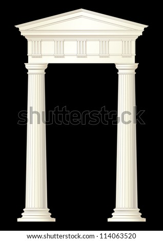 classic columns vector drawing