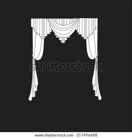 classic curtains . curtains . lambrequin