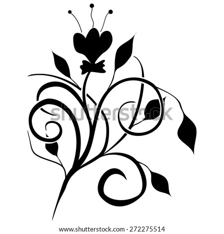 Classic decorative vector black-and-white texture  - stock vector