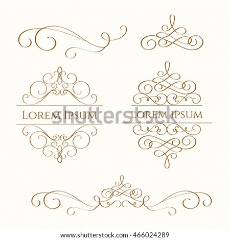 Classic design elements wedding invitations decorative stock vector classic design elements for wedding invitations decorative monogram junglespirit Images