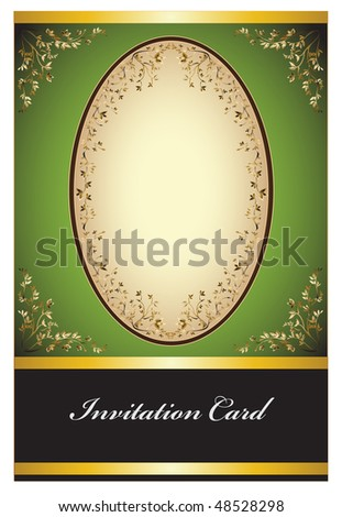 Classic design greeting card with ribbons for invitation or congratulation - stock vector