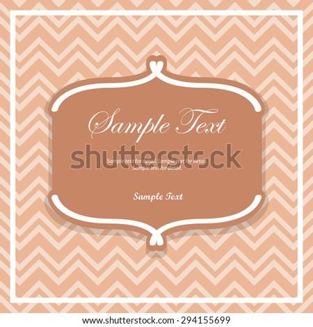Classic Design Template Text Box Label Vintage Cream Background