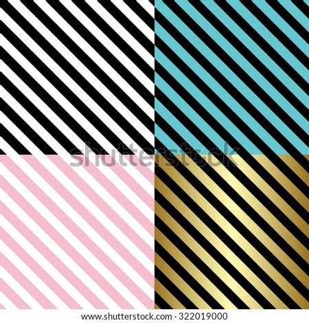 Classic diagonal lines pattern on black and white background.  Vector design - stock vector