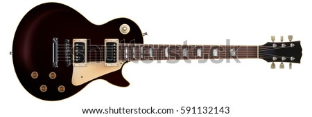Classic electric guitar isolated on white background