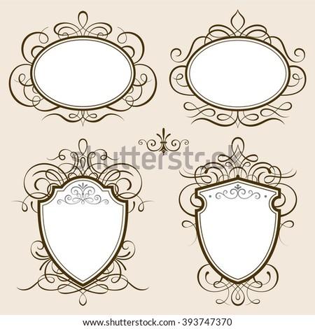 Classic frames vector illustration. - stock vector